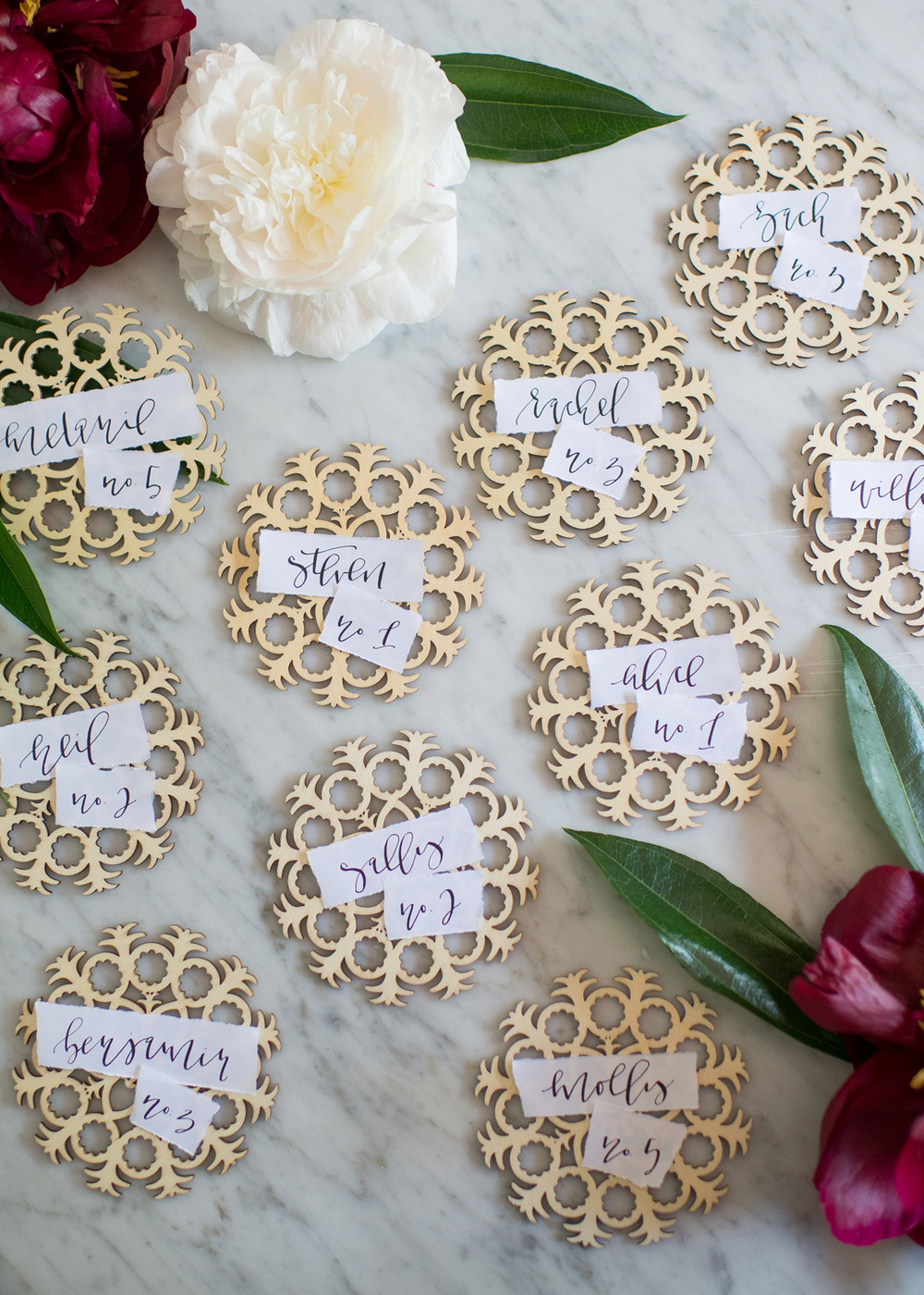 Laser cut Escort Cards | A Fabulous Fete