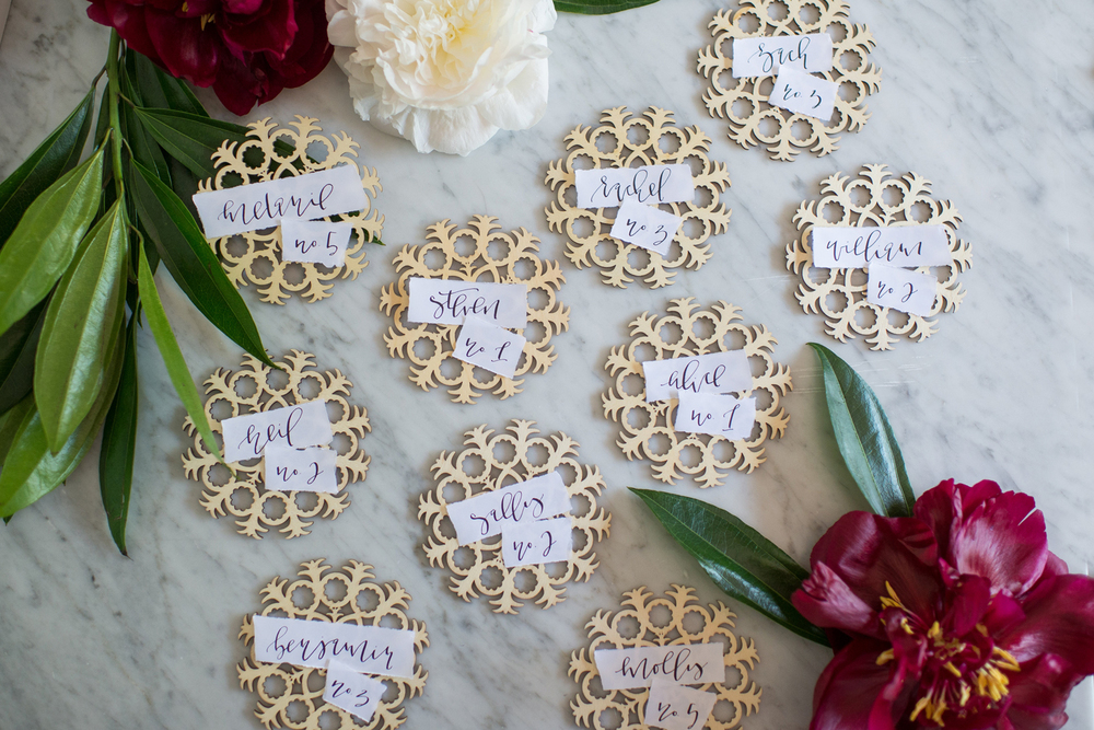 Wood Escort Cards | A Fabulous Fete