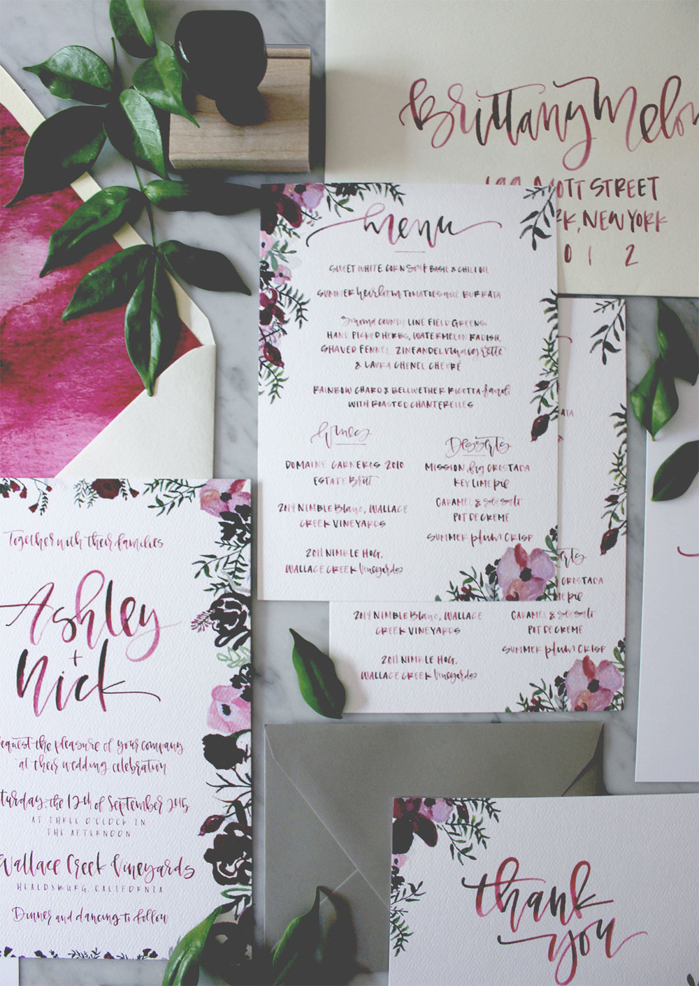 Custom Calligraphy Wedding Menu | A Fabulous Fete