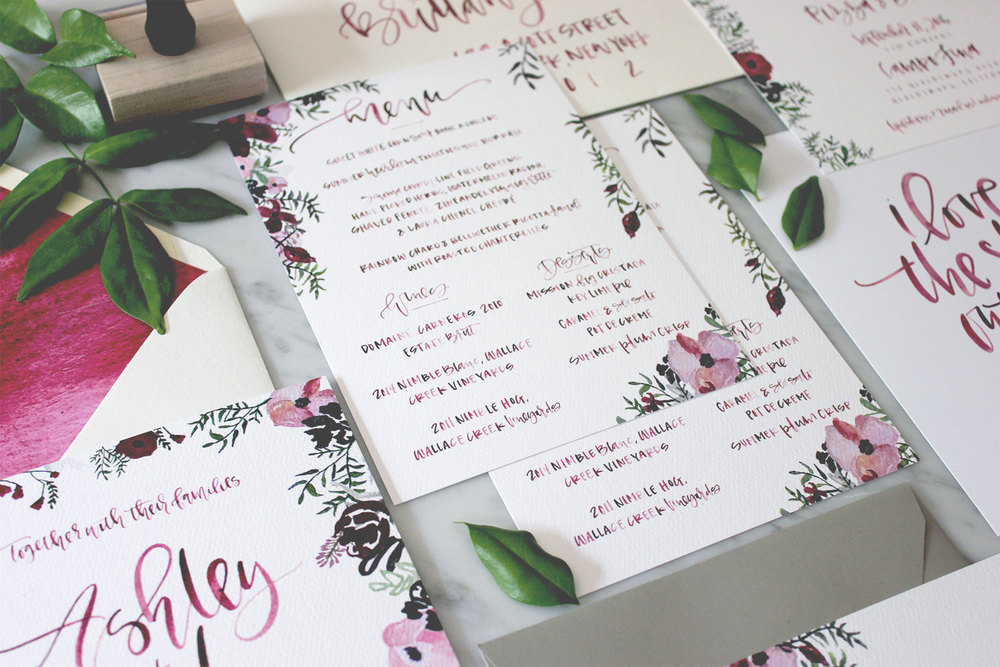Watercolor Floral Paper Goods | A Fabulous Fete