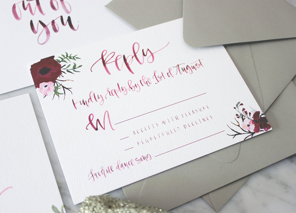 Watercolor RSVP Cards | A Fabulous Fete