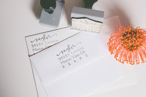 CUSTOM ADDRESS STAMP | A FABULOUS FETE