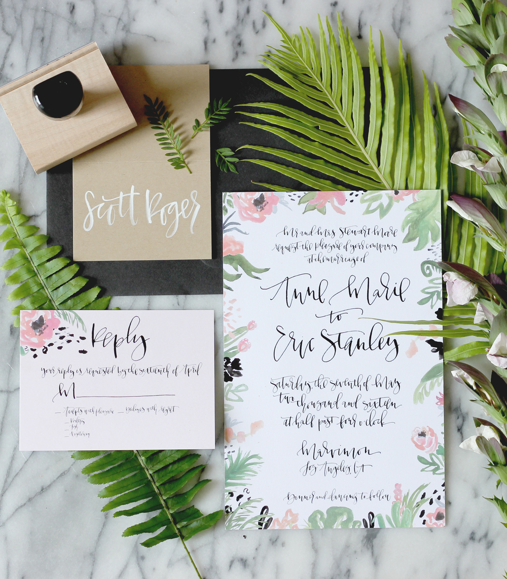 CUSTOM CALLIGRAPHY WEDDING SUITE | A FABULOUS FETE