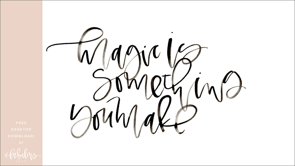 Free Watercolor Calligraphy Download