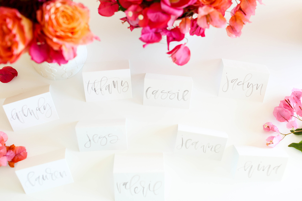 Watercolor Place Cards | A Fabulous Fete