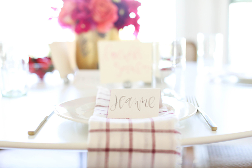 Simple Decor and Watercolor Place Cards | A Fabulous Fete
