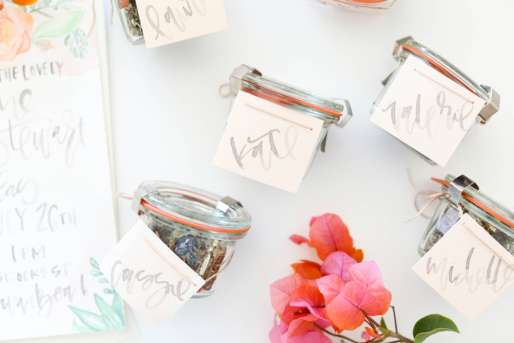 Watercolor Favor Tags | A Fabulous Fete