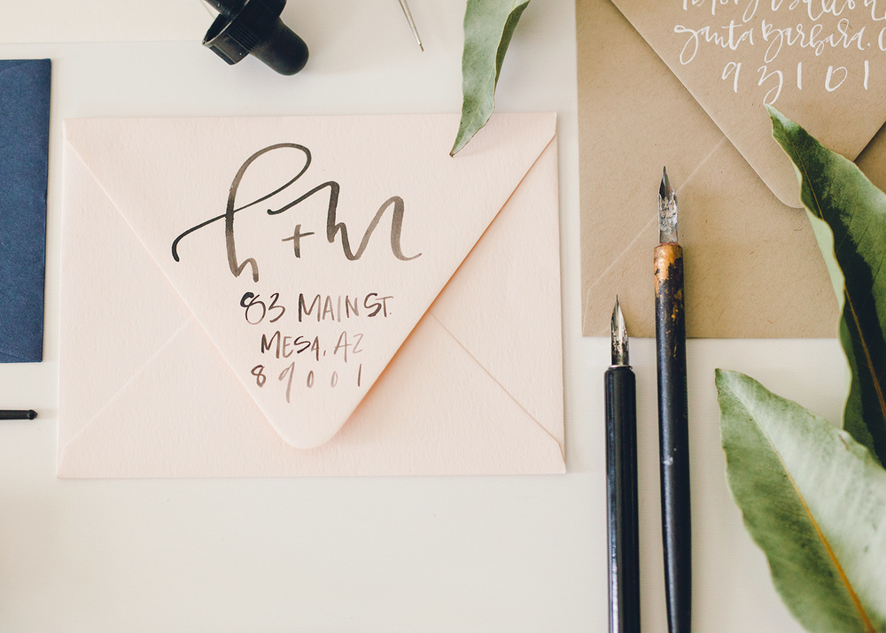 wedding envelope calligraphy a fabulous fete - Return Address For Wedding Invitations