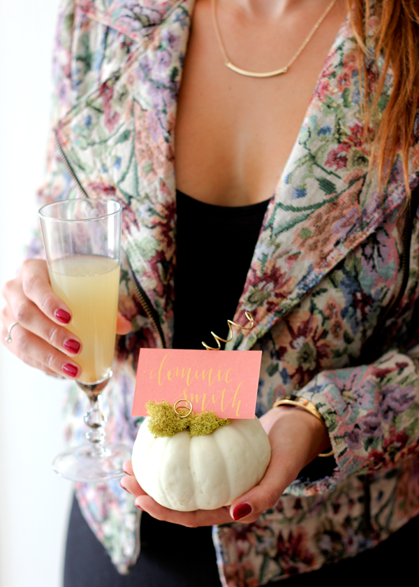 Mini Pumpkin Place Card Holders | A Fabulous Fete