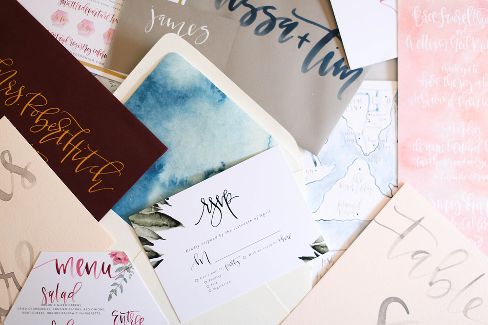 Wedding Calligraphy Pieces | A Fabulous Fete