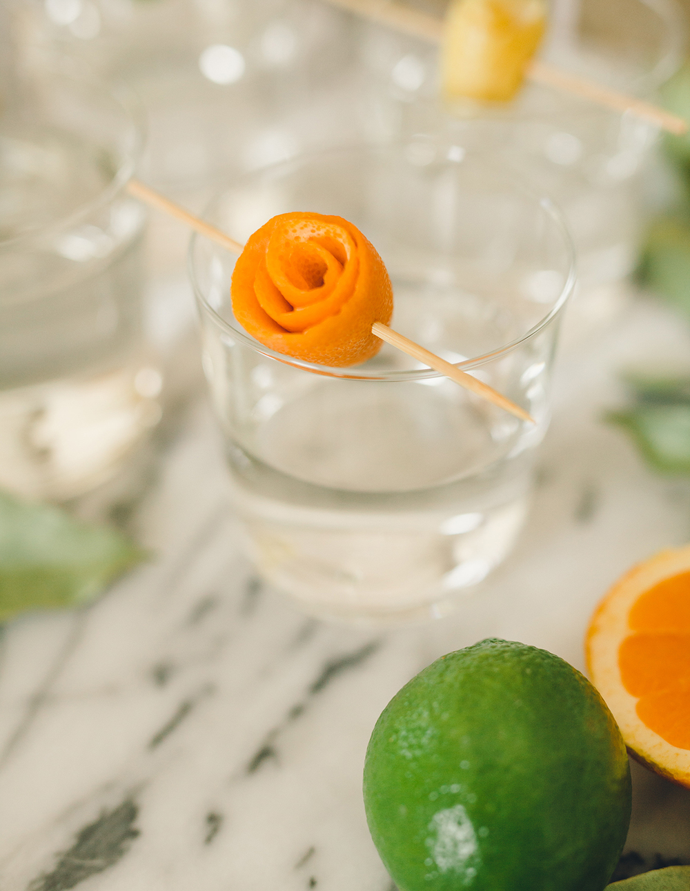 Orange Cocktail Garnish | A Fabulous Fete