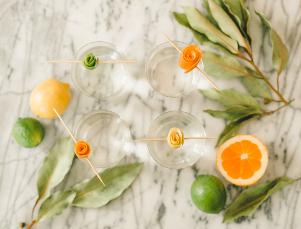 Citrus twist cocktail garnish diy | A Fabulous Fete