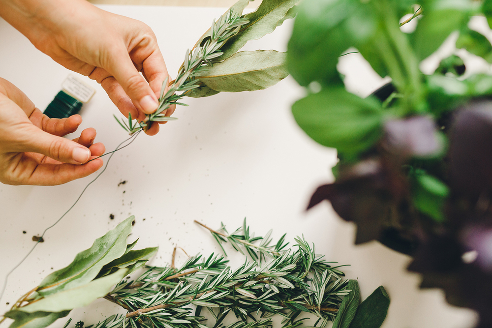 Herb garland DIY | A Fabulous Fete