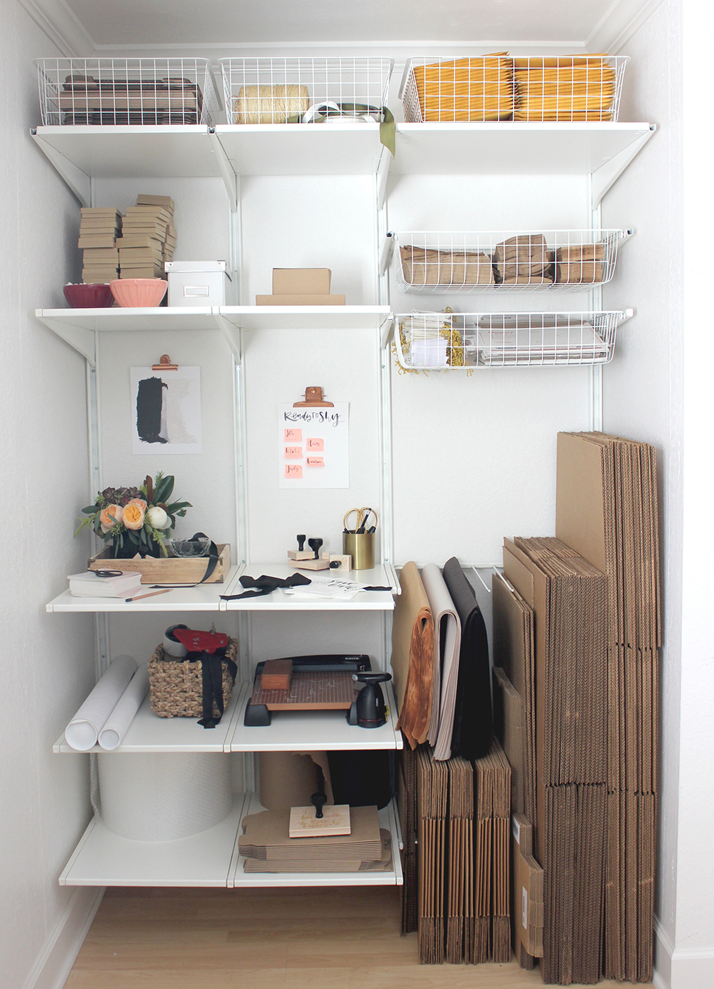 Closet transformed into second workspace | A Fabulous Fete