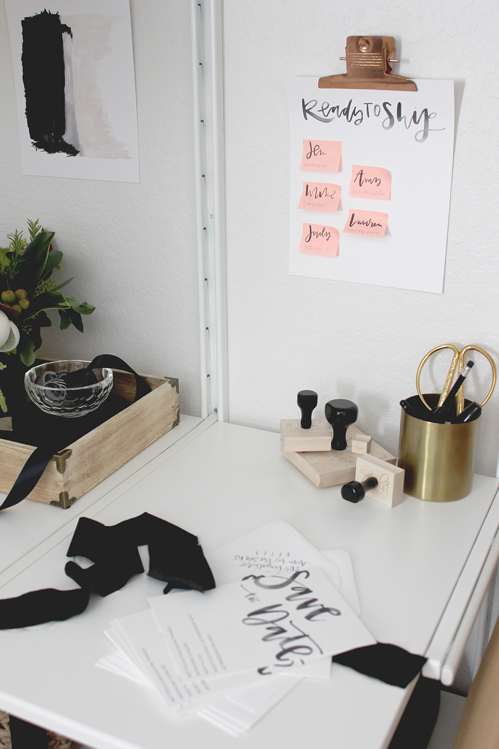 Small workspace created with ikea organization system | A Fabulous Fete