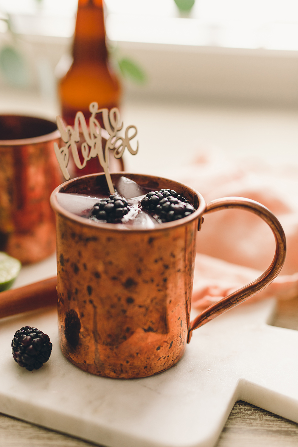 Blackberry moscow mule recipe | A Fabulous Fete