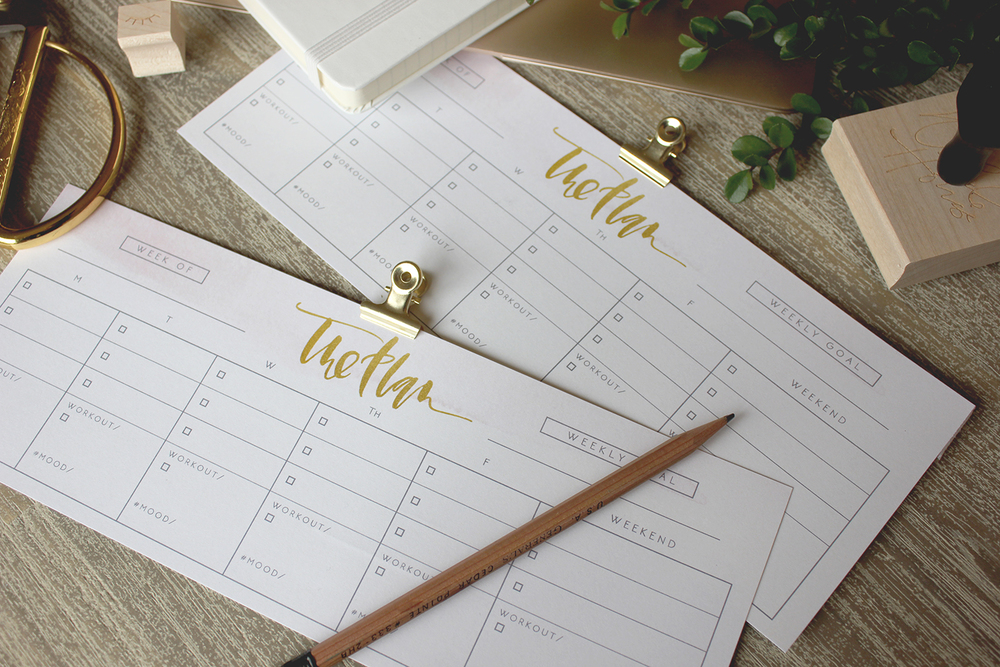 Organize your week with this free printable by Wilde House Paper! | A Fabulous Fete