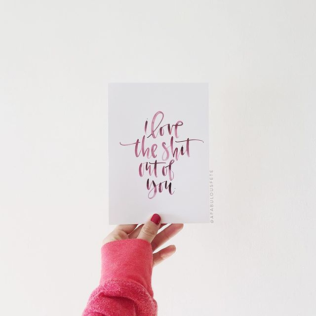 I love the shit out of you print | A Fabulous Fete
