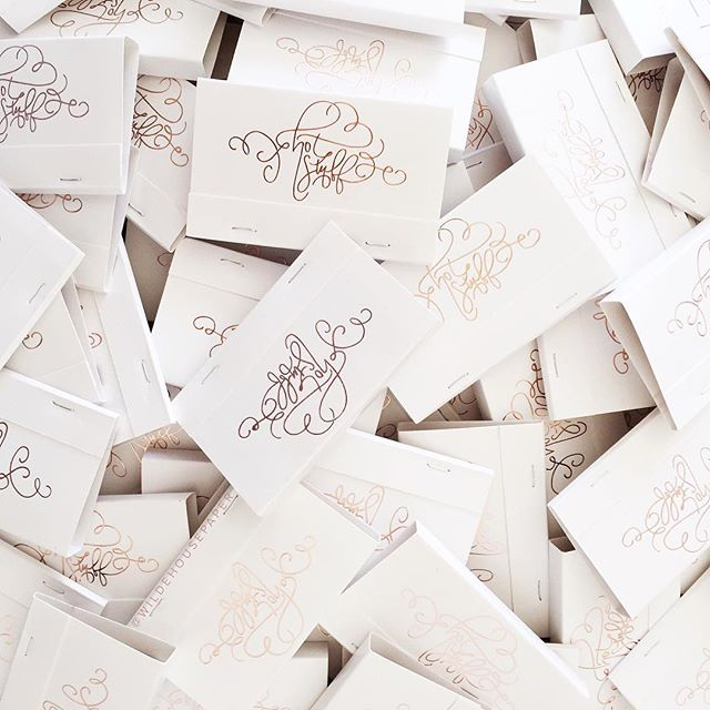 Custom matchbooks for Wilde House Paper | A Fabulous Fete