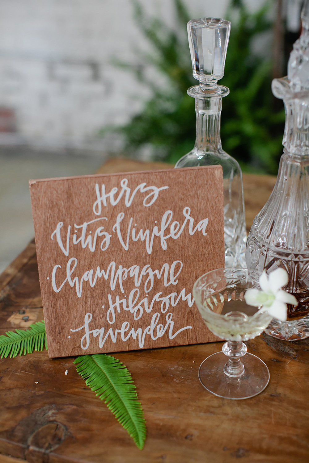 Rustic wood cocktail bar sign | A Fabulous Fete
