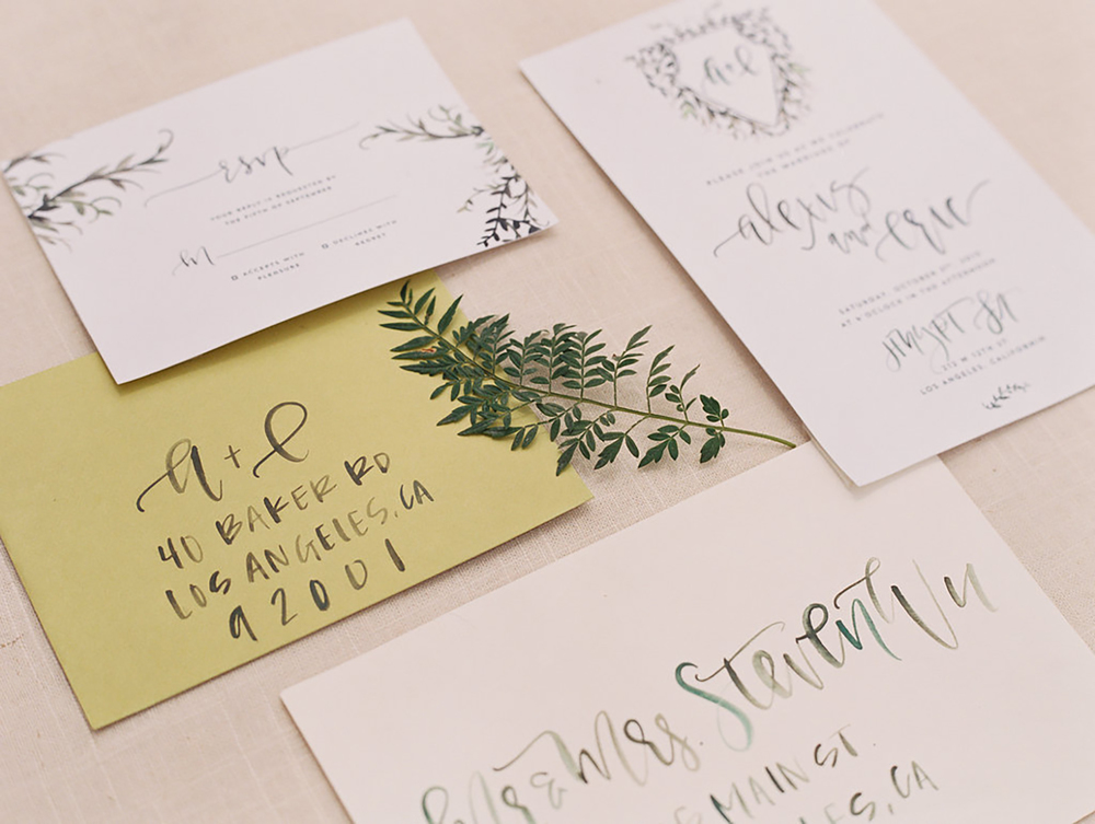 Mixed green watercolor | A Fabulous Fete