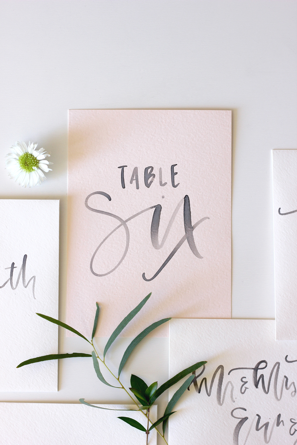 Handwritting Table Settings | A Fabulous Fete
