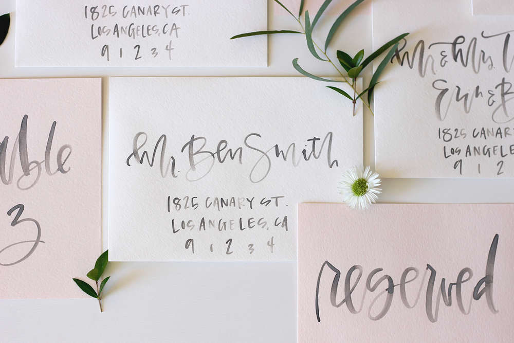 Calligraphy Table Settings | A Fabulous Fete