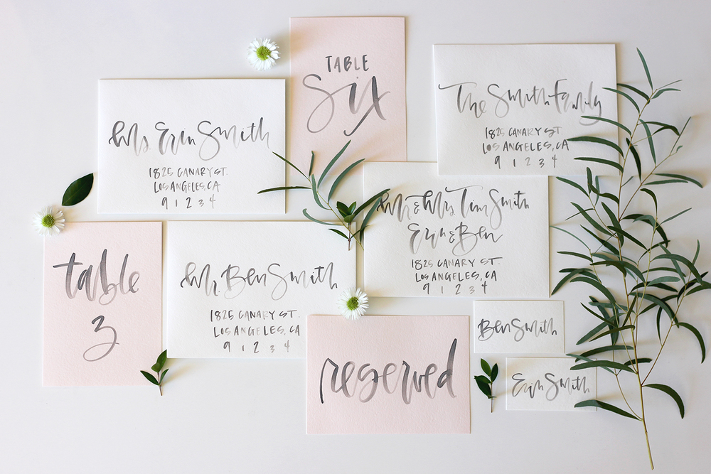 Blush Watercolor Wedding Invites | A Fabulous Fete