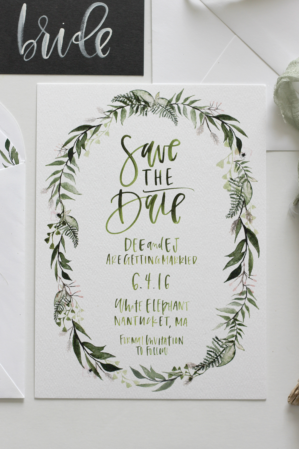 Custom Greenery Illustration | A Fabulous Fete