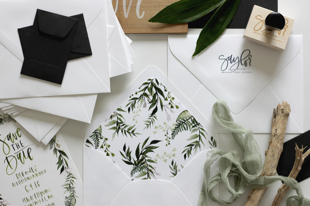Green, White and Black Wedding Colors | A Fabulous Fete