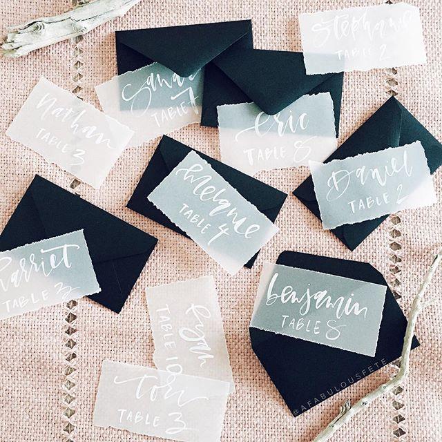 Vellum place cards | A Fabulous Fete