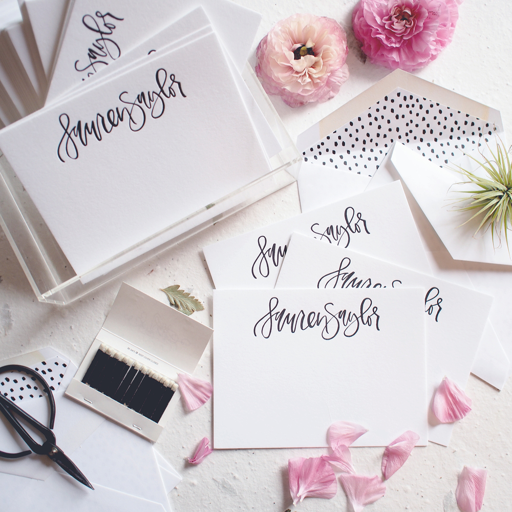 Custom letterpress notecards | A Fabulous Fete