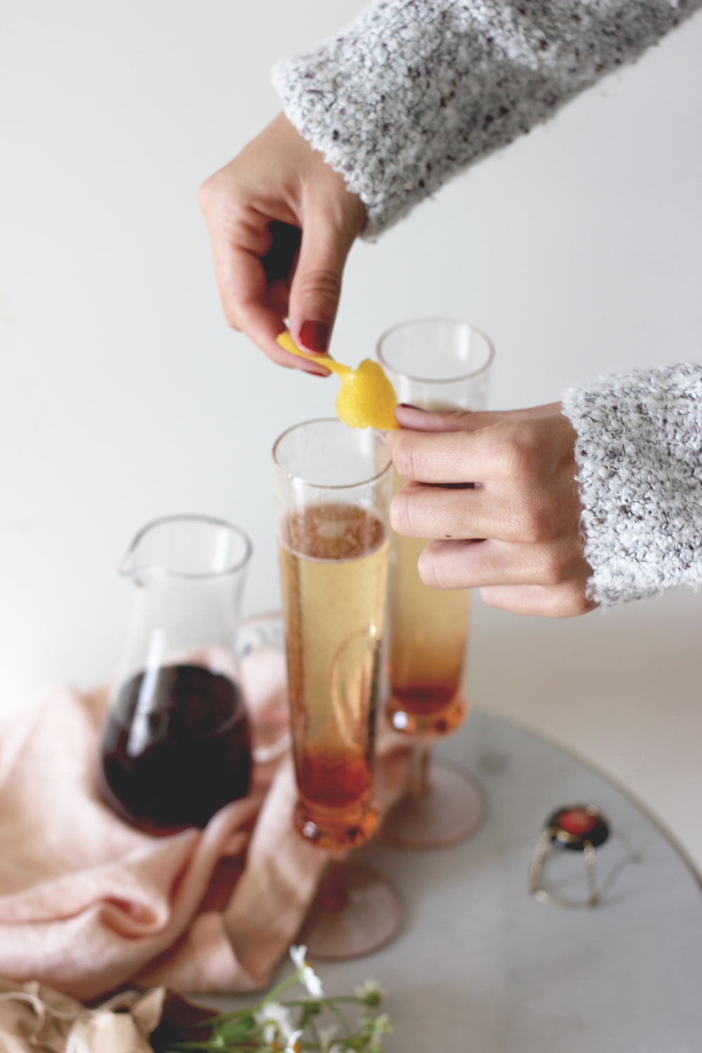 Champagne cocktails with a lemon twist | A Fabulous Fete
