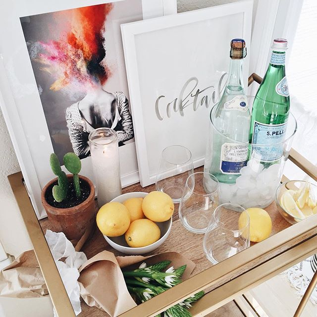 Girl's night bar cart | A Fabulous Fete