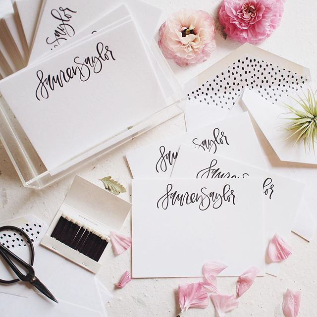 Hand lettered letterpress notecards in collaboration with Bespoke Notes | A Fabulous Fete