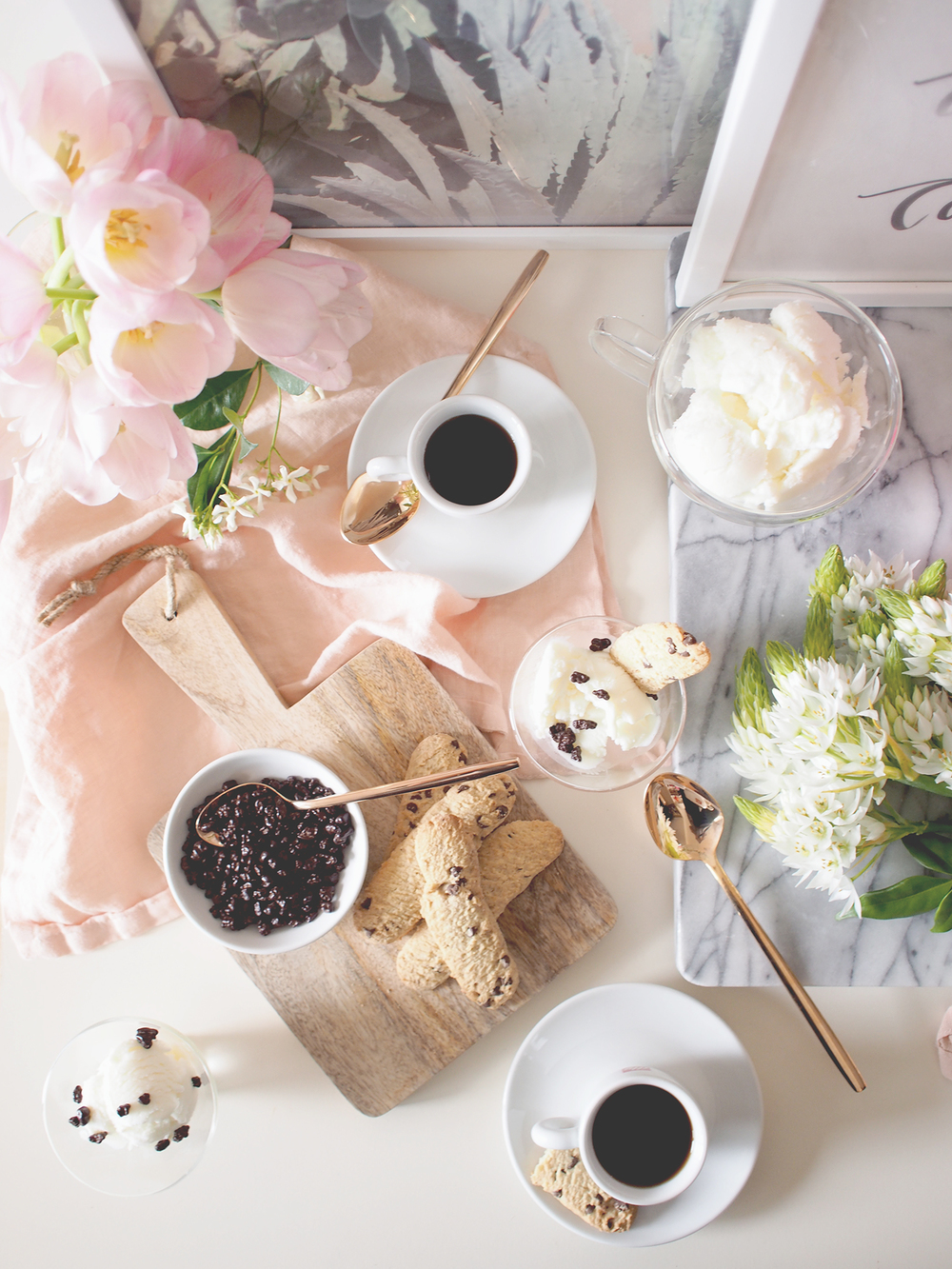 Decorating tips for a mom's day coffee bar! I love using art as a backdrop paired with a fun quote | A Fabulous Fete