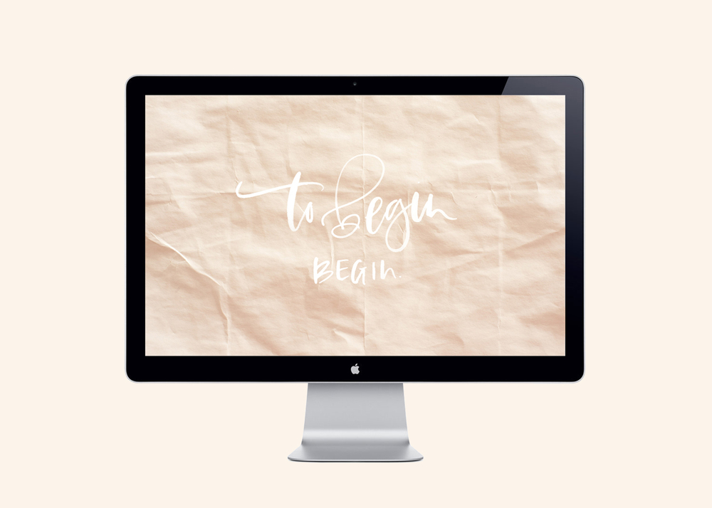 Hand Lettered Desktop Downloads | A Fabulous Fete