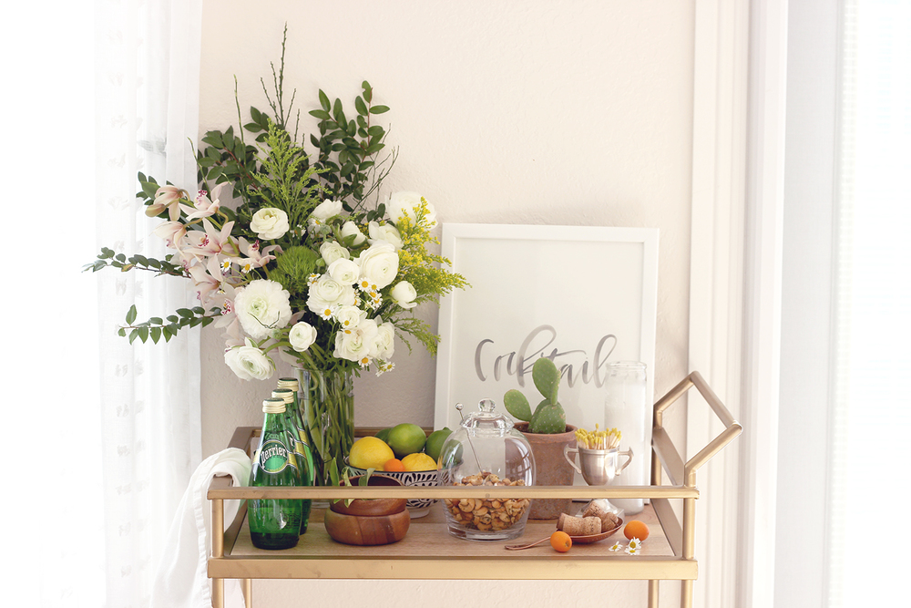 Spring Bar Cart Ideas | A Fabulous Fete