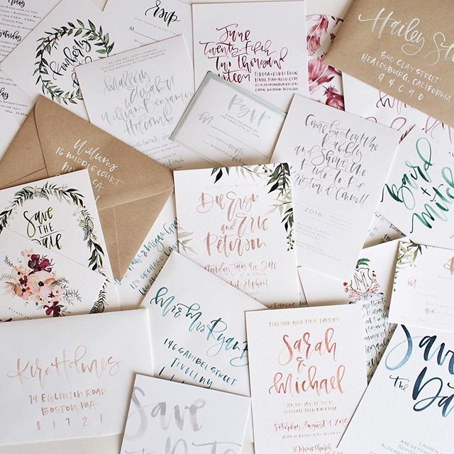 Collection of custom invites from 2015/2016 | A Fabulous Fete