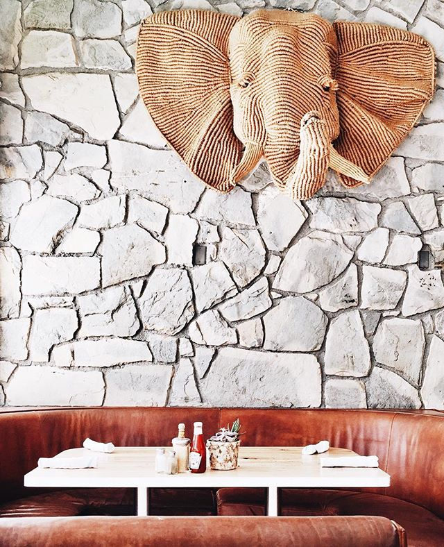 Elephant wall hanging at Kings Highway, Palm Springs | A Fabulous Fete