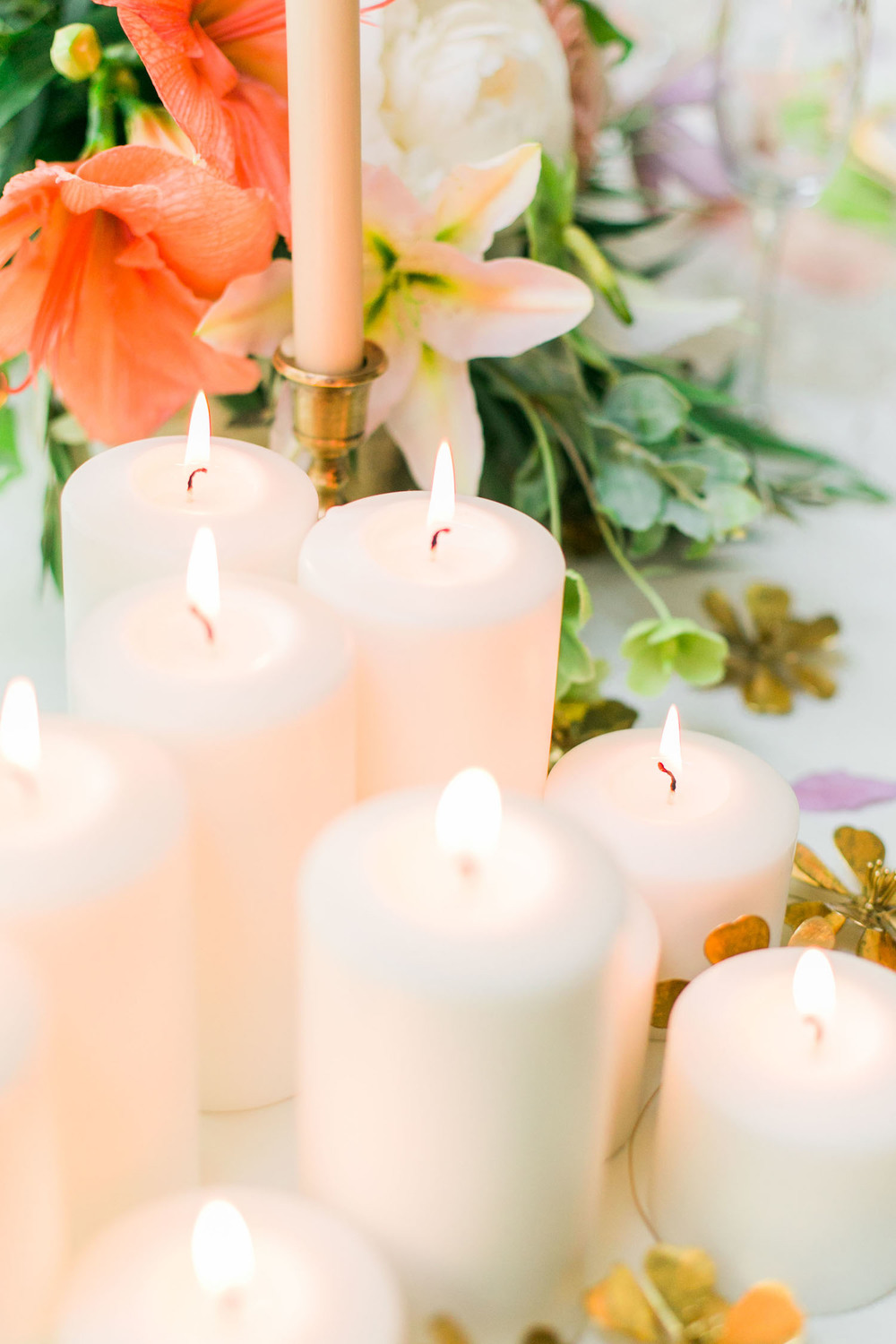 A table full of candles is the easiest way to create some drama without a ton of effort | A Fabulous Fete