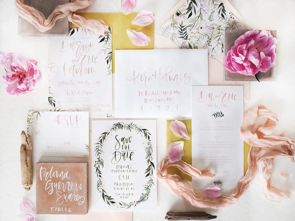blush and green wedding suite | a fabulous fete