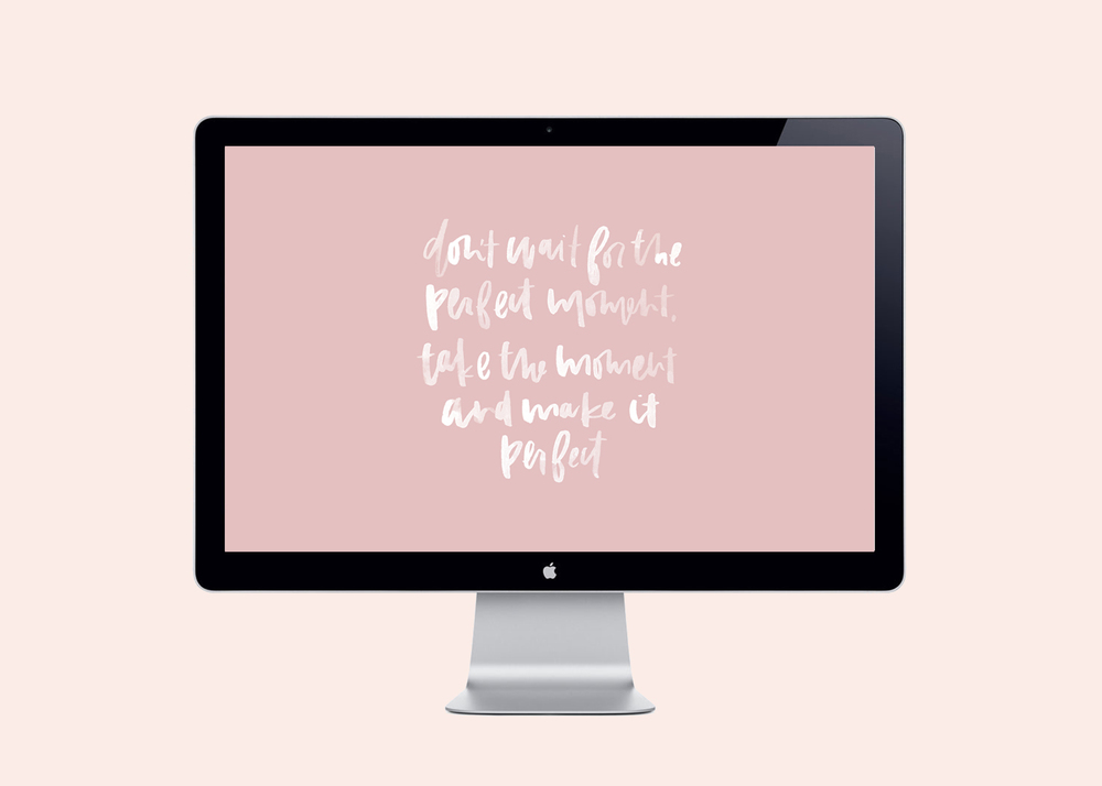 Download this free desktop background with hand lettering by A Fabulous Fete!