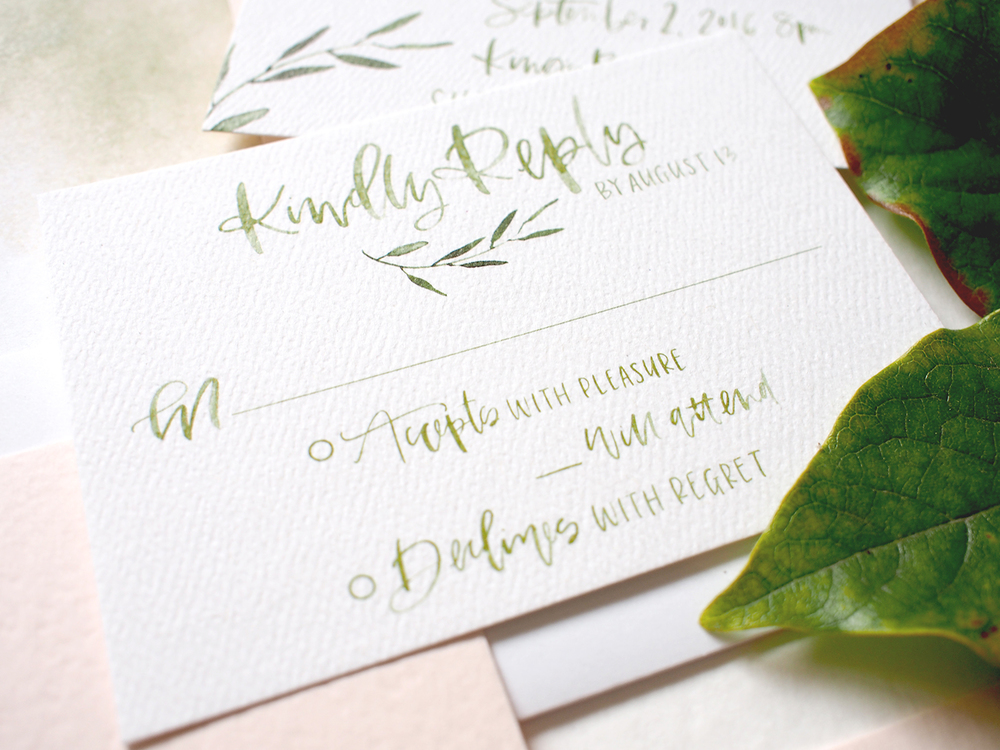 Green watercolor calligraphy | A Fabulous Fete