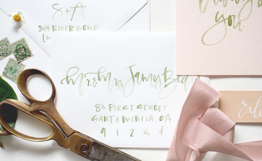 custom wedding invitation suite | A Fabulous Fete