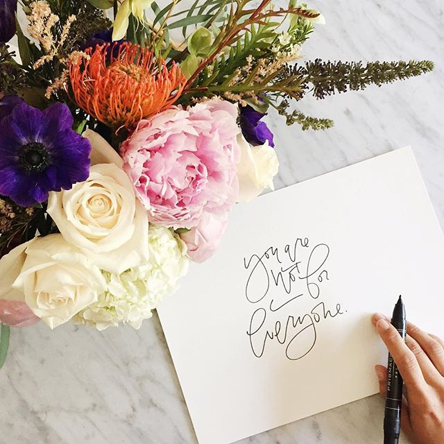 You are not for everyone, sharpie hand lettering | A Fabulous Fete