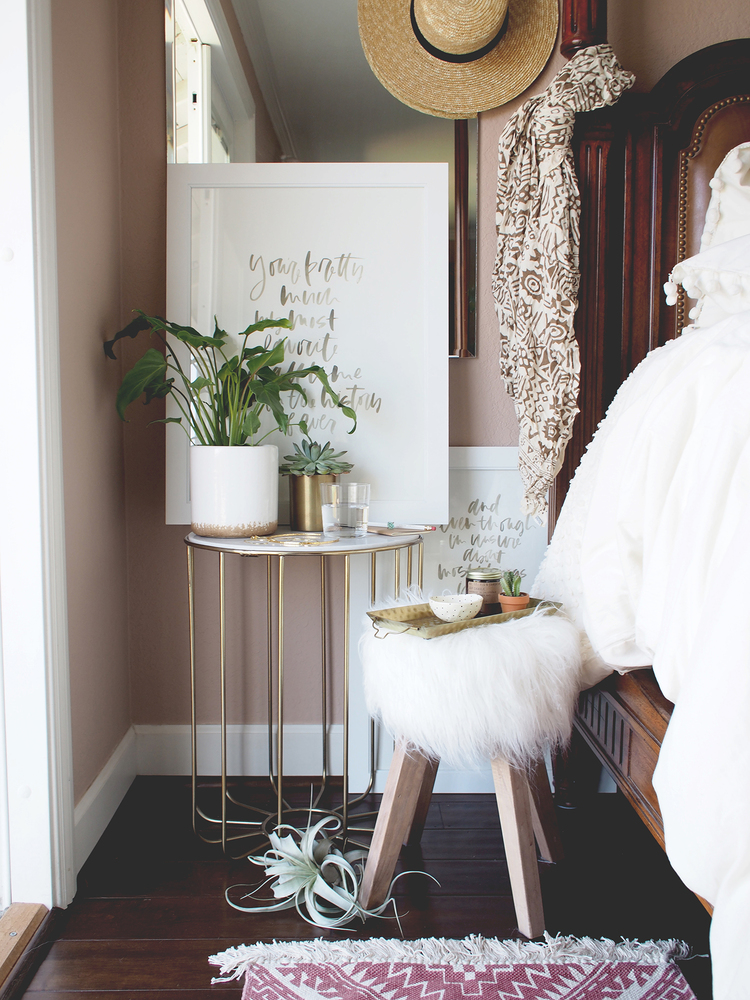 Simple Bedroom Updates a summer bedroom update | home — a fabulous fete