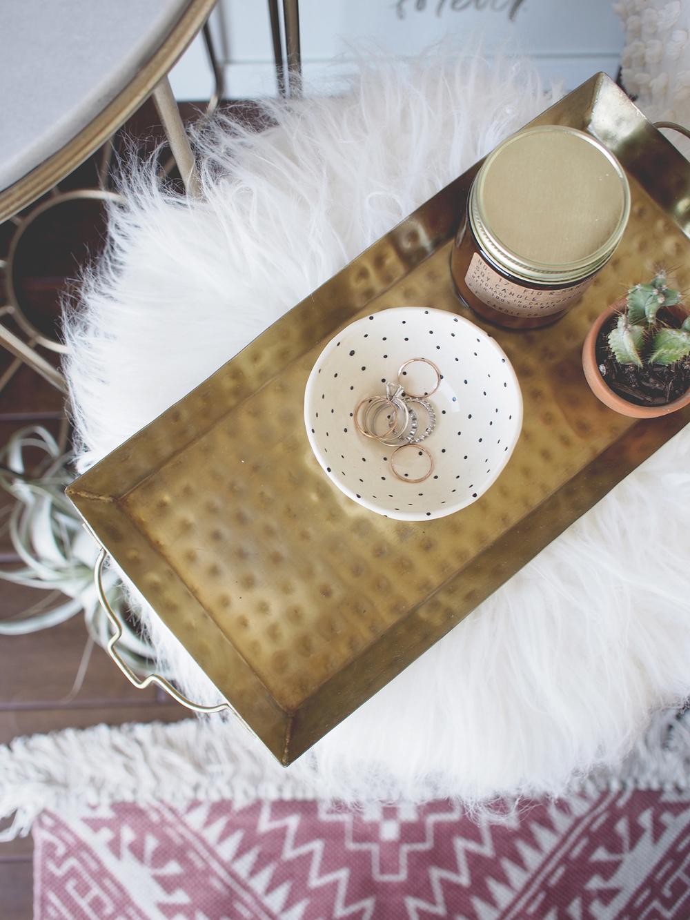 Stool as a mini side table | A Fabulous Fete