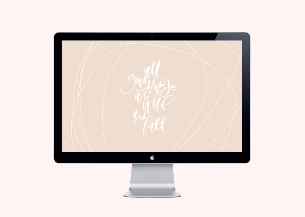 Download a series of free hand lettered desktop images | A Fabulous Fete