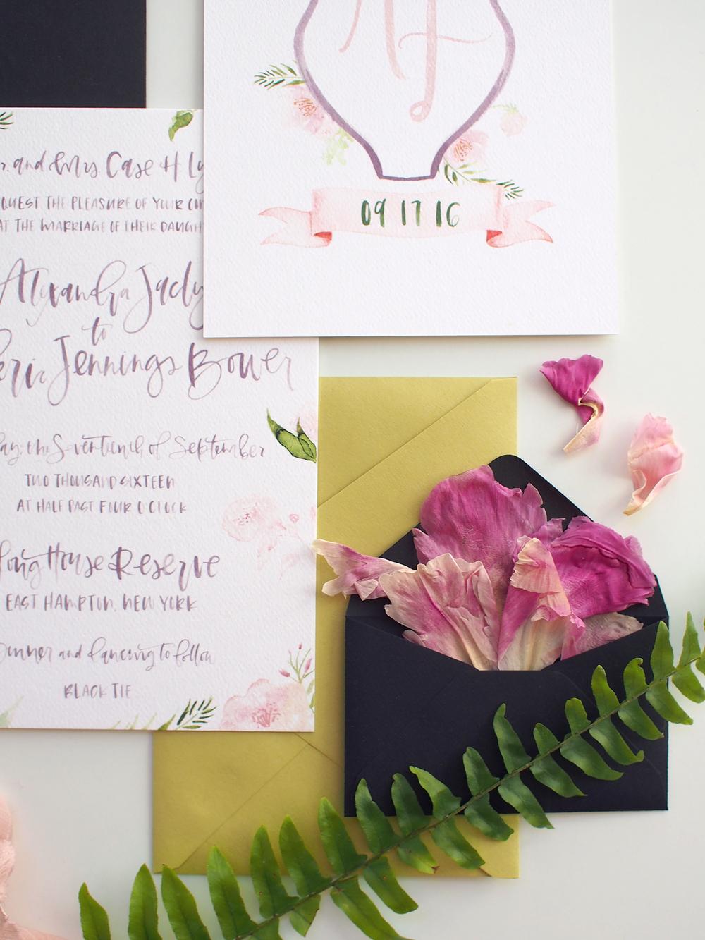 floral purple and pink wedding suite | A Fabulous Fete